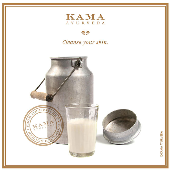 Ayurvedic treatment: milk