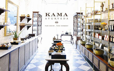 Kama Ayurveda store in New Delhi