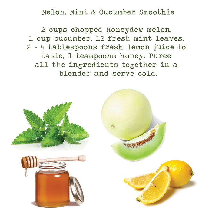 Ayurvedic treatment: melon, mint