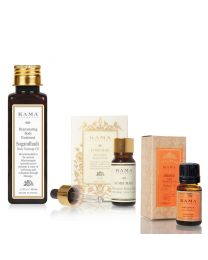 Kama Ayurveda winter regime - sugandhadi, Kumkumadi, pure orange essential oil